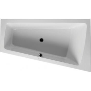 Duravit Paiova bad 170x100 cm, hoek rechts zonder poten, wit