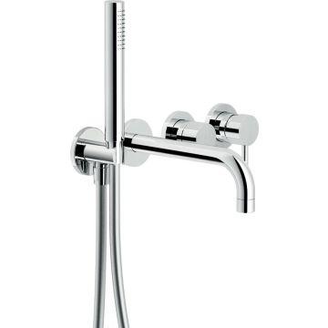 Sub 093 afdekset inbouw badkraan met uitloop, chroom