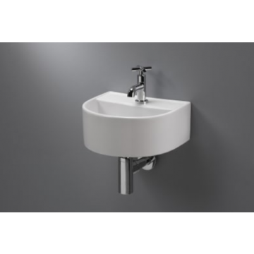 Sub 070 fontein 32x28,5x13 cm. halfrond z/overloop, wit