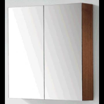 Sub 120 spiegelkast met 2 deuren 60,5 x 60 x 15 cm, donker eiken