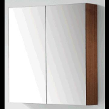 Sub 120 spiegelkast met 2 deuren 80x60,5 cm, donker eiken