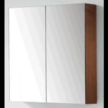 Sub 120 spiegelkast met 2 deuren 60x60,5 cm, zilver eiken