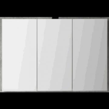 Sub 120 spiegelkast met 3 deuren 100x60,5 cm, wit gelakt