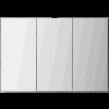 Sub 120 spiegelkast met 3 deuren 100x60,5 cm, zilver eiken