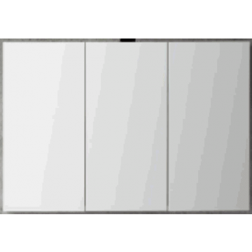 Sub 120 spiegelkast met 3 deuren 100x60,5 cm, donker eiken