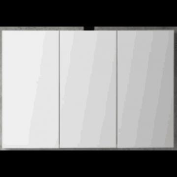 Sub 120 spiegelkast met 3 deuren 120x60,5 cm, wit gelakt