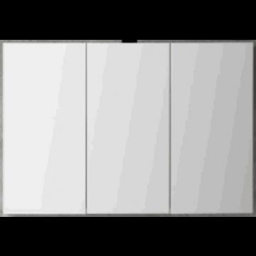 Sub 120 spiegelkast met 3 deuren 120x60,5 cm, zilver eiken