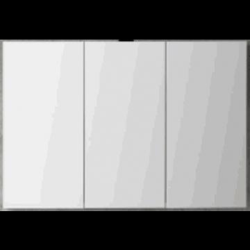 Sub 120 spiegelkast met 3 deuren 120x60,5 cm, donker eiken