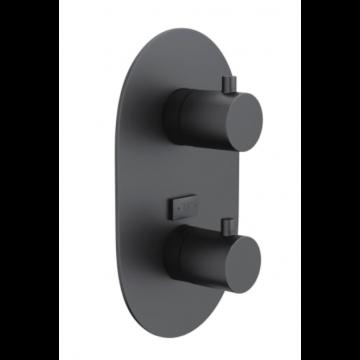 Sub 102 afdekset voor 2-weg inbouw thermostaat, mat zwart