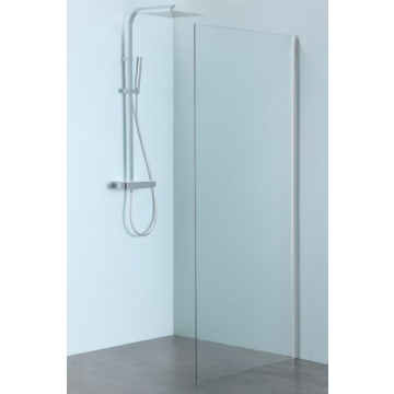Sub 061 zijwand van clean-glas 90 x 200 cm, chroom hoogglans