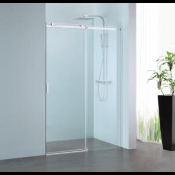 Sub 061 schuifdeur 120x200 cm., rechts, clean-glas, profiel rvs gepolijst