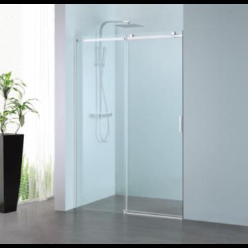 Sub 061 schuifdeur 160x200 cm., links, clean-glas, profiel rvs gepolijst