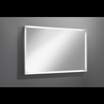 Sub 129 spiegel 100x80 cm.led verlichting rondom en dimmer, wit
