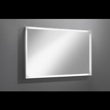 Sub 129 spiegel 120x80 cm.led verlichting rondom en dimmer, wit