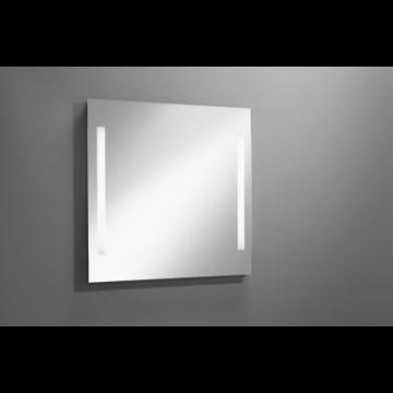 Sub 129 spiegel 80x80 cm. met led verlichting verticaal