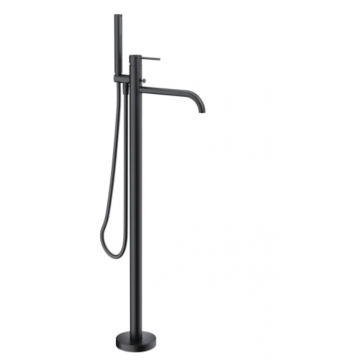Sub 093 vrijstaande badkraan met douchegarnituur, mat zwart
