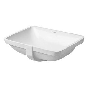 Duravit Starck 3 inbouw wastafel 49x40 zonder kraangat gliss, wit