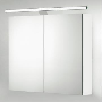 Sub 129 led verlichting 80 voor spiegelkast met driver, chroom