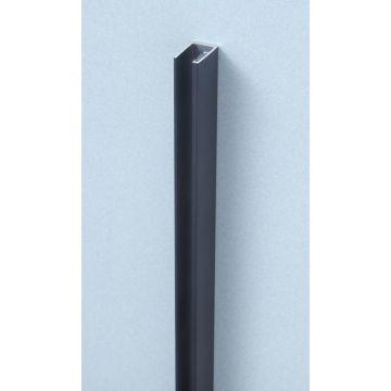 Sub 066 wandprofiel walk-in 200 cm voor 8 mm glasdikte, mat zwart