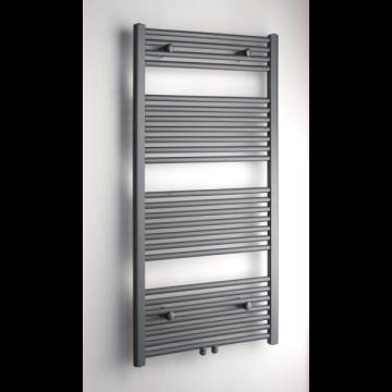 Sub 034 radiator recht middenaansl 400x1800 mm n41 696w, grijs metallic