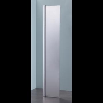 Sub 066 draaideel voor walk-in 35x200 cm., zilver-helder clean