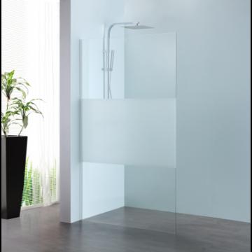 Sub 066 walk-in 90x200 cm., zilver-matglas clean
