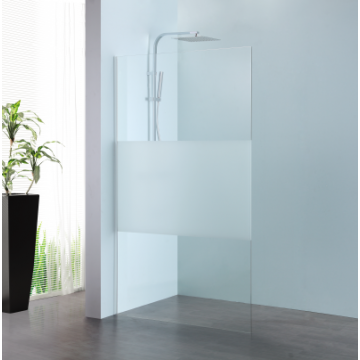 Sub 066 walk-in 100x200 cm., zilver-matglas clean