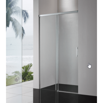 Sub 065 softclose schuifdeur 110x200 cm., zilver glans-helder clean