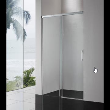 Sub 065 softclose schuifdeur 160x200 cm., zilver glans-helder clean