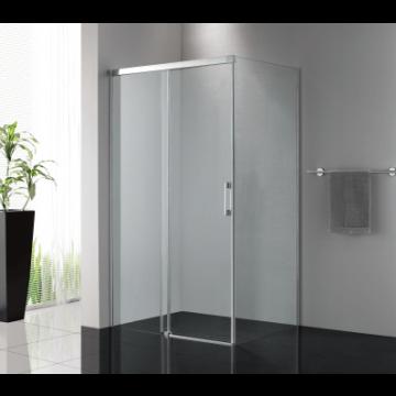 Sub 065 softclose schuifdeur 140x200 cm., zilver glans-helder clean