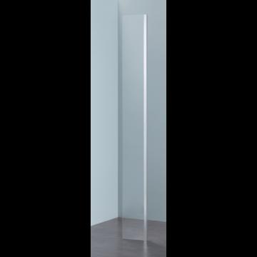 Sub 066 hoekdeel 25x200 cm., zilver-helder clean