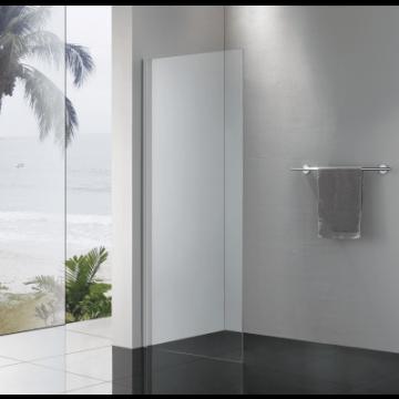 Sub 065 zijwand voor schuifdeur 100x200 cm., zilver glans-helder clean