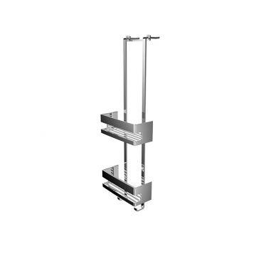 Emco System 2 deuretagère met 2 diepe korven, chroom