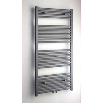 Sub 034 radiator 60x120 n25 617w recht met midden aansl., mat zwart