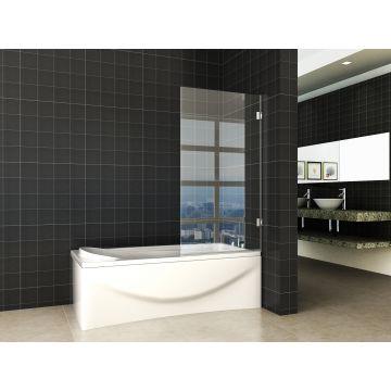 Wiesbaden Less profielloze badwand 80 x 150 cm, 6 mm Nano-glas
