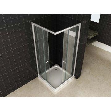 Wiesbaden Eco hoekinstap douchecabine 80x80x190 cm, aluminium