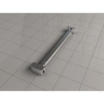 Wiesbaden stabilisatiestang 45° compleet omkeerbaar 40 cm, chroom