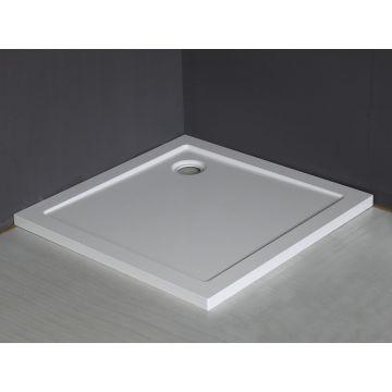 Wiesbaden Luxe SMC douchebak vierkant 90x90x4 cm, wit