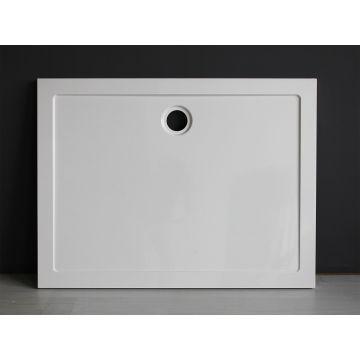 Wiesbaden Luxe rechthoek inbouwdouchebak 120x80x4 cm, wit