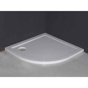Wiesbaden Luxe kwartronde inbouwdouchebak 90x90x4 cm, wit