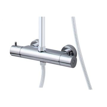 Wiesbaden Caral losse therm kraan tbv douche-opbouwset, chroom