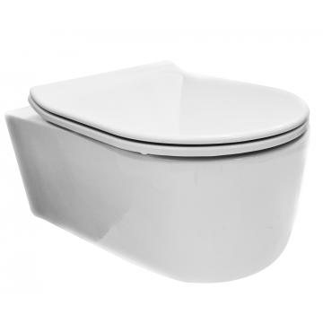 Wiesbaden Arco hangend toilet diepspoel met Flatline 2.0 toiletzitting, wit