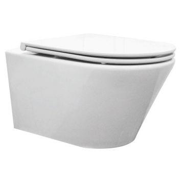 Sub Vesta rimless complete hangend toiletset diepspoel met Flatline 2.0-zitting, wit