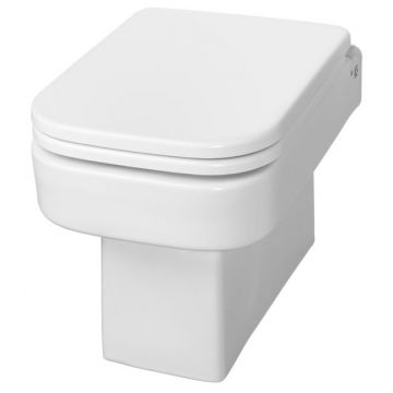 Wiesbaden Carré hangend toilet diepspoel met softclose zitting, wit