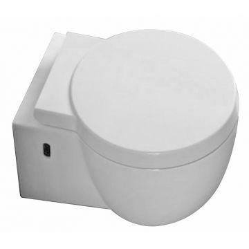 Wiesbaden Amor hangend toilet diepspoel verkort 49 cm met softclose en quickrelease zitting, wit