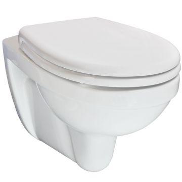 Wiesbaden Trevi One Pack hangend toilet diepspoel met softclose en quickrelease zitting, wit