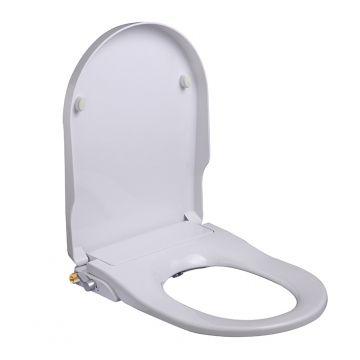 Wiesbaden Luxe toiletzitting met douche wc stroomloos, wit