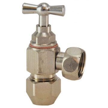 Sub hoekstopkraan 3210 3/8x10mm, chroom
