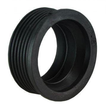 Riko rubber manchet 5x4 cm, zwart