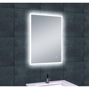 Wiesbaden Quatro spiegel met LED-verlichting en verwarming 70 x 50 cm